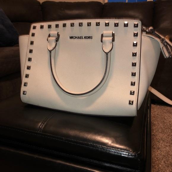 Michael Kors Handbags - Michael Kors Medium Studded Selma